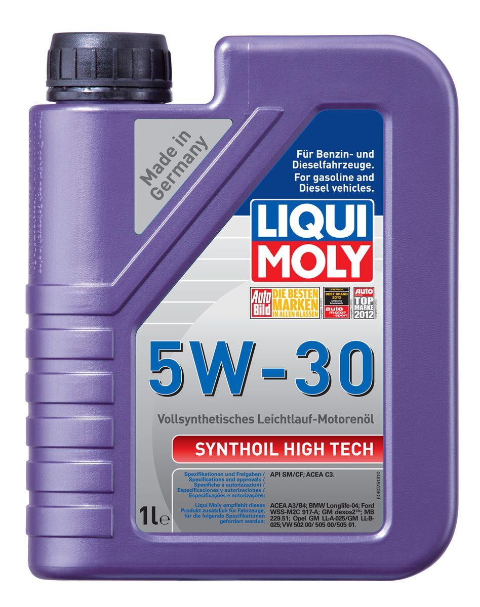 Масло моторное Liqui Moly Synthoil High Tech, синтетическое, 5W-30, 1 л9075Масло моторное Liqui Moly Synthoil High Tech - 100% синтетическое универсальное моторное масло на базе полиальфаолефинов (ПАО) для большинства автомобилей, для которых требования к маслам опираются на международные классификации API и ACEA. Популярнейший класс вязкости для всех современных автомобилях. Благодаря новейшему классу ACEA C3 моторное масло отлично подходит для автомобилей с сажевыми фильтрами. Использование современных, полностью синтетических базовых масел (ПАО) и передовых технологий в области разработок присадок гарантирует низкую вязкость масла при низких температурах, высокую надежность масляной пленки. Моторные масла линейки Synthoil предотвращают образование отложений в двигателе, снижают трение и надежно защищают от износа. Особенности: - Быстрое поступление масла к трущимся деталям при низких температурах - Высокая защита двигателя от износа - Замечательная термоокислительная стабильность и устойчивость к старению -...