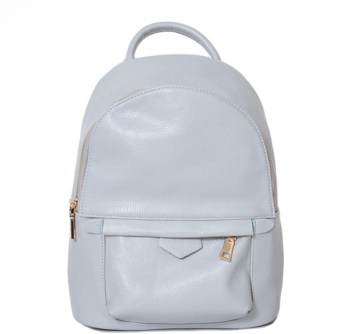 Рюкзак женский Flioraj, цвет: светло-серый. 21382138 greyРюкзак Flioraj выполнен из высококачественной искусственной кожи. Изделие оснащено ручкой для подвешивания и удобными лямками. На лицевой стороне расположен карман на молнии. Рюкзак закрывается на молнию. Внутри расположено главное вместительное отделение, которое содержит один небольшой карман на молнии и один открытый накладной карман для мелочей.