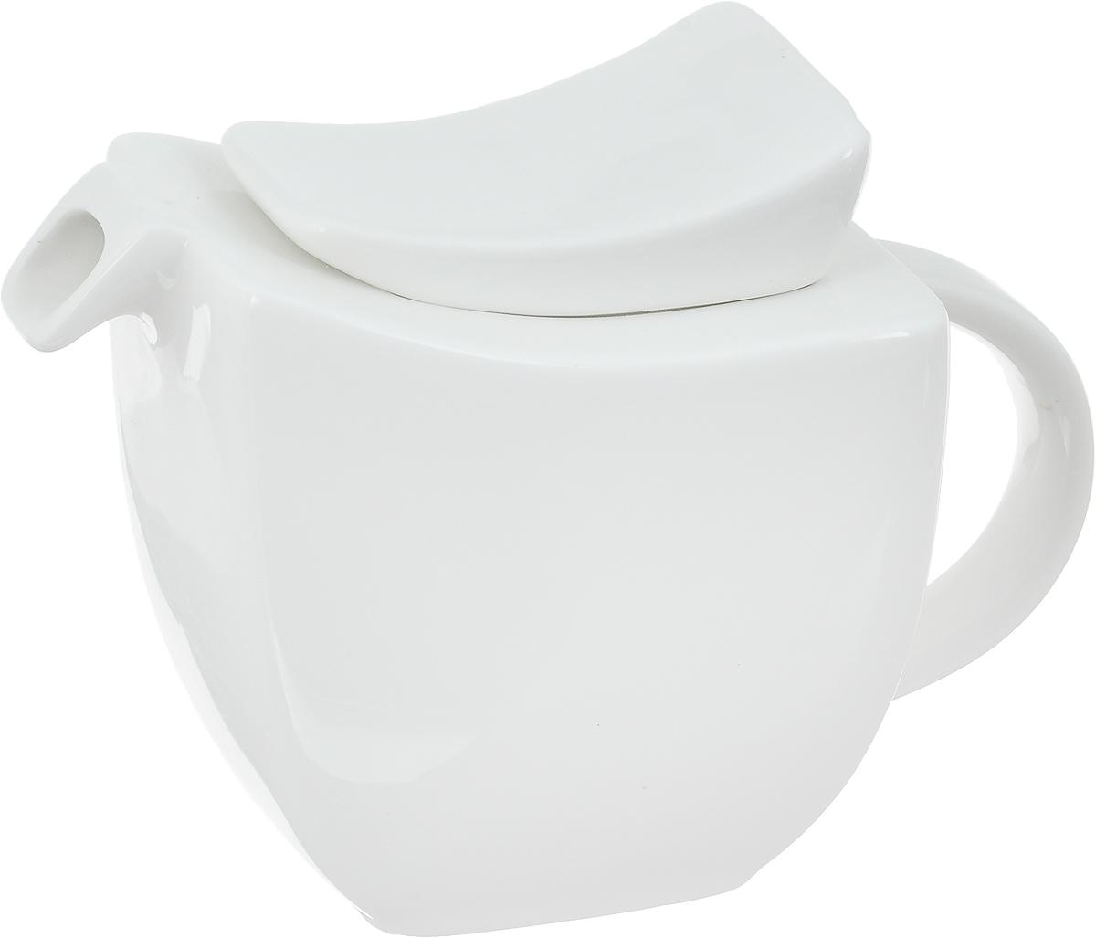 Чайник заварочный Ariane Rectangle, 400 млAVRARN62040Заварочный чайник Ariane Rectangle изготовлен из высококачественного фарфора. Глазурованное покрытие обеспечивает легкую очистку. Изделие прекрасно подходит для заваривания вкусного и ароматного чая, а также травяных настоев. Оригинальный дизайн сделает чайник настоящим украшением стола. Он удобен в использовании и понравится каждому. Можно мыть в посудомоечной машине и использовать в микроволновой печи. Размер чайника (по верхнему краю): 8,5 х 10,5 см. Высота чайника (без учета крышки): 9 см. Высота чайника (с учетом крышки): 12 см.
