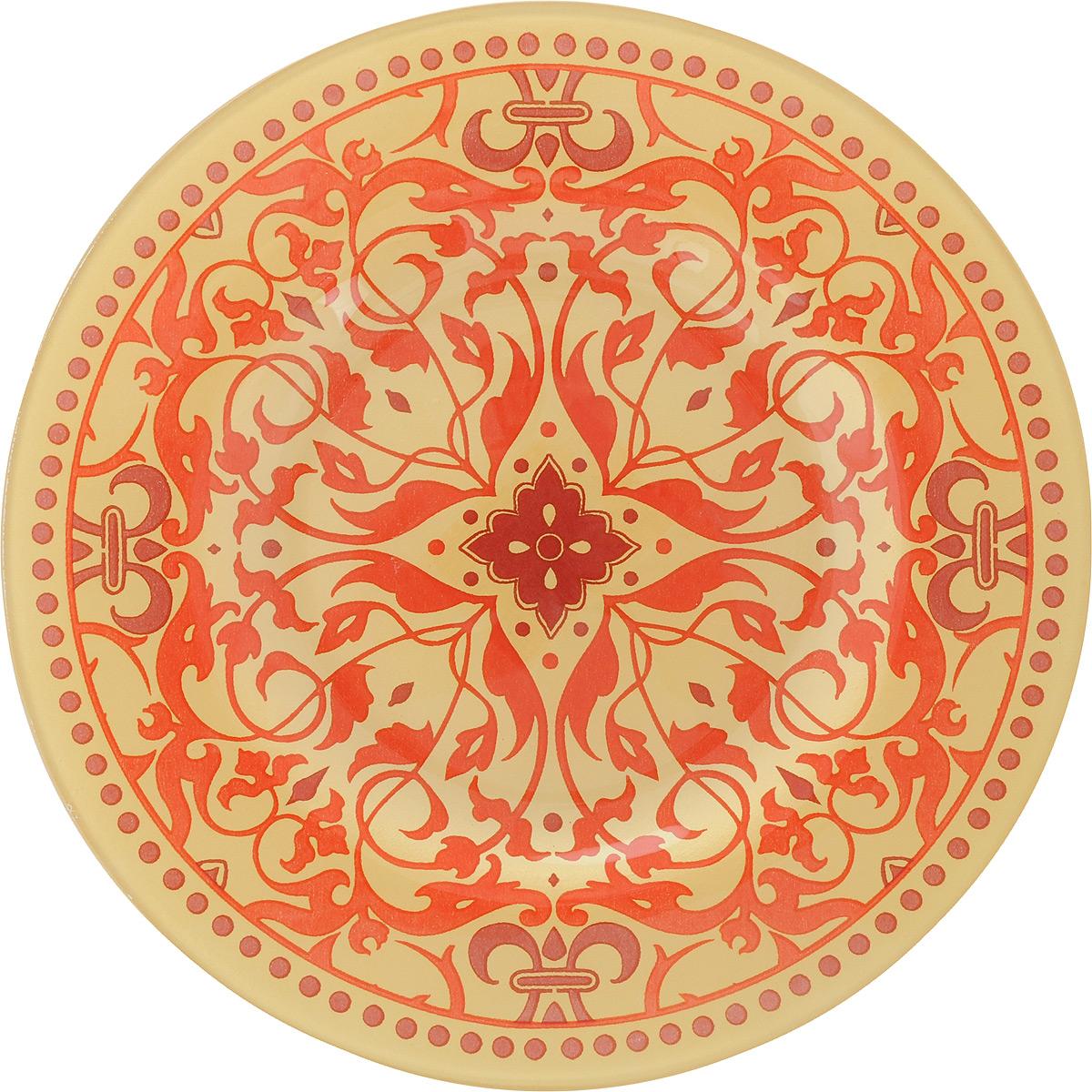 Тарелка Zibo Shelley Золотой узор-1, диаметр 20 смZSS3008A-1Круглая тарелка Zibo Shelley Золотой узор-1, изготовленная из стекла, декорирована ярким узором. Она не только украсит сервировку вашего стола и подчеркнет прекрасный вкус хозяйки, но и станет отличным подарком. Можно использовать в посудомоечной машине и СВЧ. Диаметр: 20 см. Высота: 1 см.
