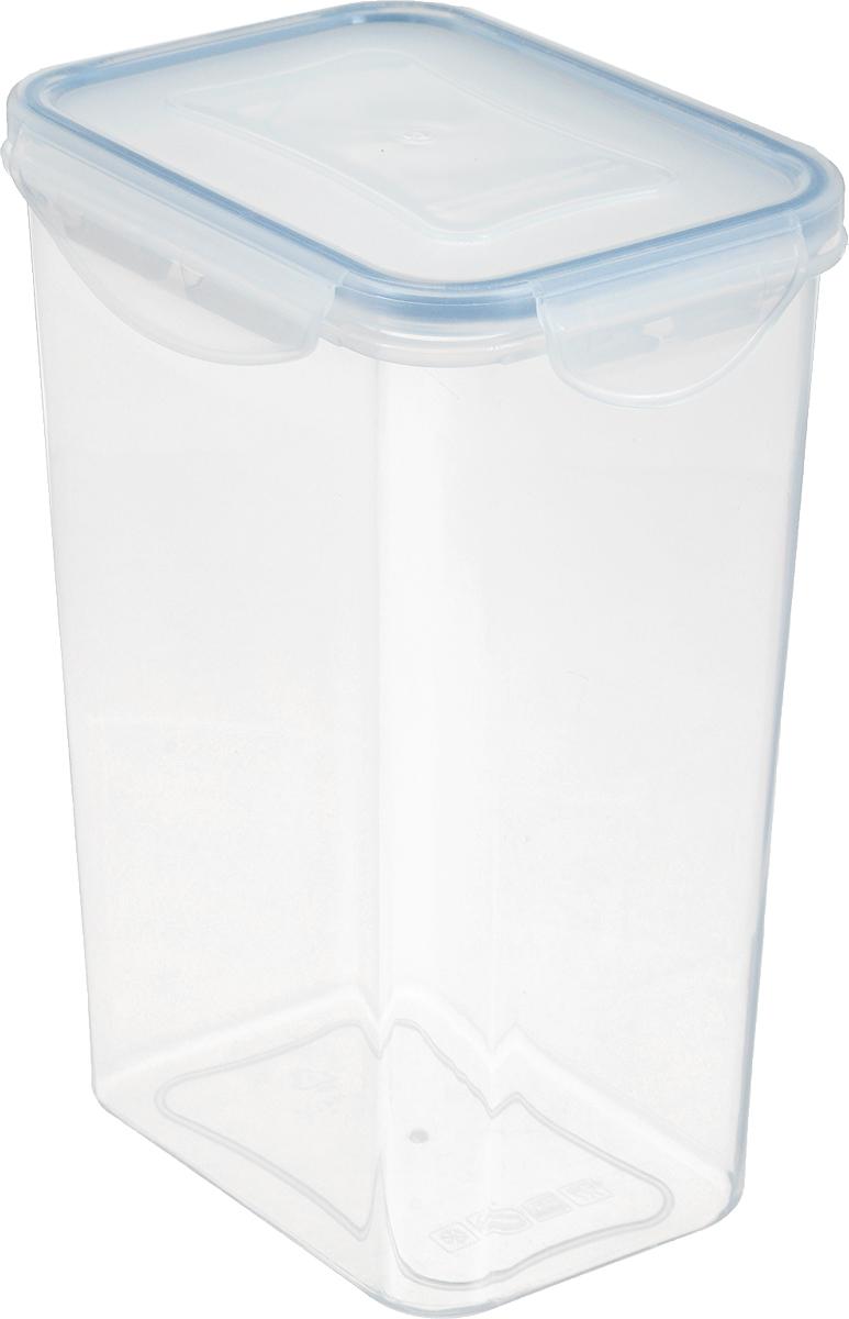 Контейнер для сыпучих продуктов Tescoma Freshbox, 1,3 л892076Контейнер Tescoma Freshbox изготовлен из высококачественного пластика. Герметичная крышка, выполненная из пластика и снабженная силиконовой вставкой, надежно закрывается с помощью четырех защелок. Изделие подходит для специй, чая, кофе, круп, сахара и соли и многого другого. Такой контейнер стильно дополнит интерьер кухни и поможет эффективно организовать пространство. Подходит для мытья в посудомоечной машине, хранения в холодильных и морозильных камерах. Размер контейнера (по верхнему краю): 12,5 х 9 см. Размер контейнера (с учетом крышки): 13,5 х 10 х 18 см.