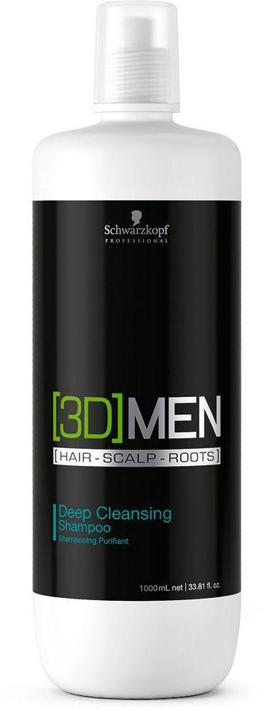 [3D]Men Deep Cleansing Шампунь для глубокого очищения 1000 млБ33041_шампунь-барбарис и липа, скраб -черная смородинаШампунь для глубокого очищения. Для мужчин. Абсолютно чистые волосы за 15 секунд. Очищает волосы от остатков средств стайлинга и удаляет избыточный жир с волос и кожи головы. Оставляет ощущение безупречно чистых, послушных и мягких волос. Склеропротеин воздействует на волосы, восстанавливая их структуру, кофеин стимулирует волосяные луковицы, пантенол увлажняет кожу головы.