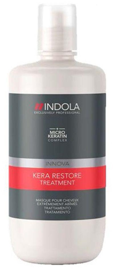 Indola Маска Кератиновое Восстановление Kera Restore 750 мл1854732Интенсивно восстанавлиевает внутреннюю структуру волос. Формула с микронизированным кератином глубоко проникает в структуру волоса, запечатывает кутикулу, усиливает фиброзную структуру, упругость и силу. Для сильно поврежденных волос. Рекомендуется использовать в комплексе с шампунем INDOLA Kera Restore