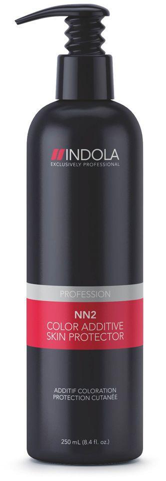 Indola Лосьон для защиты кожи NN2 250 мл1954416Уникальная формула создает на поверхности кожи головы барьерный слой, оберегая от воздействия красителя и уменьшая раздражение. Алоэ и бисаболол успокаивающе действуют на кожу головы. Продукт можно использовать как вместе с красителем так и отдельно. Удобный помповый дозатор