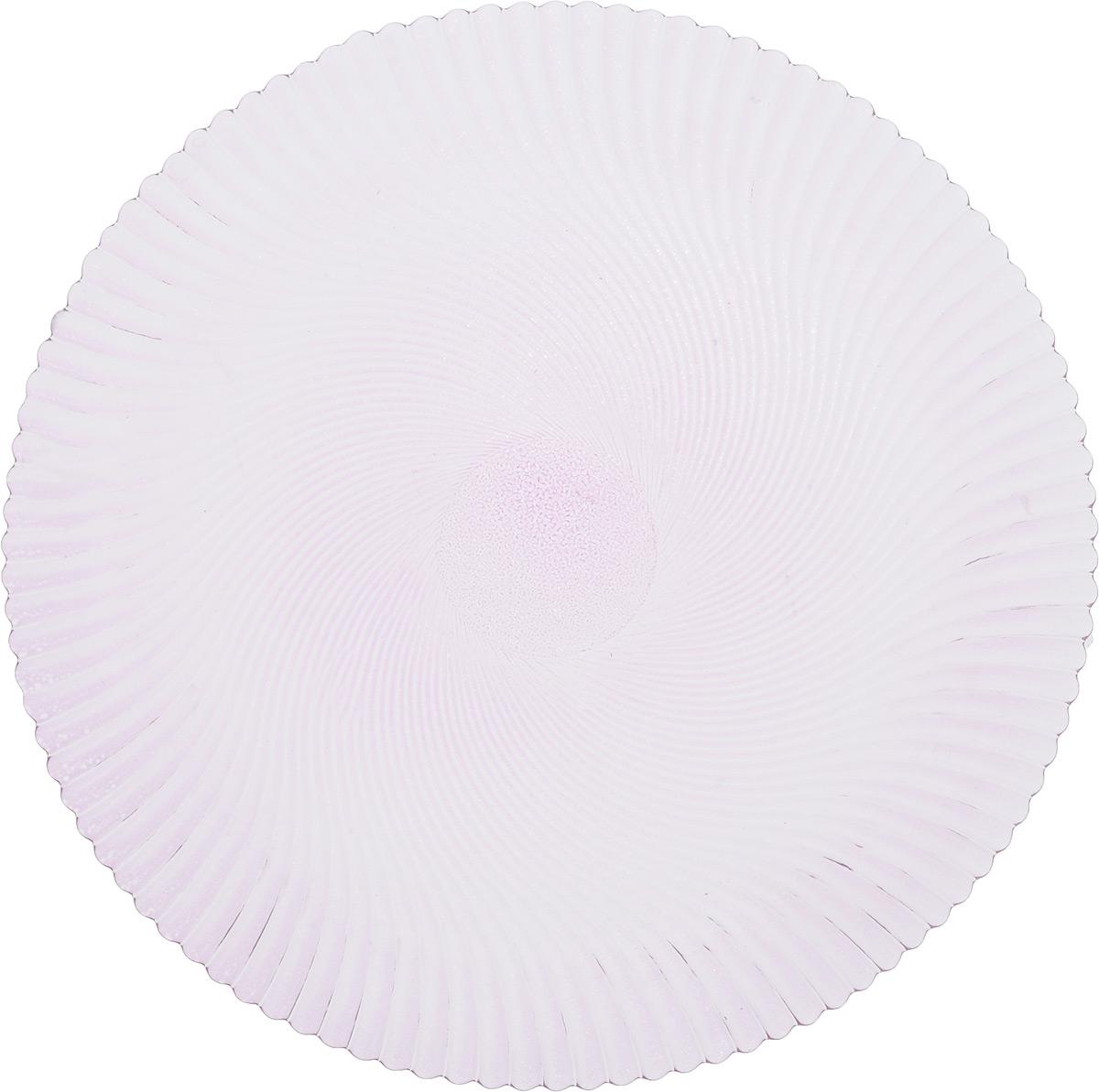 Блюдо NiNaGlass Альтера, цвет: сиреневый, диаметр 32 см83-028-ф320 СИРБлюдо NiNaGlass Альтера, изготовленное из высококачественного стекла, имеет круглую форму и прекрасно подойдет для подачи нарезок, закусок и других блюд. Внешняя стенка изделия имеет рельефную форму. Такое блюдо украсит сервировку вашего стола и подчеркнет прекрасный вкус хозяйки. Диаметр блюда (по верхнему краю): 32 см. Высота блюда: 2 см.