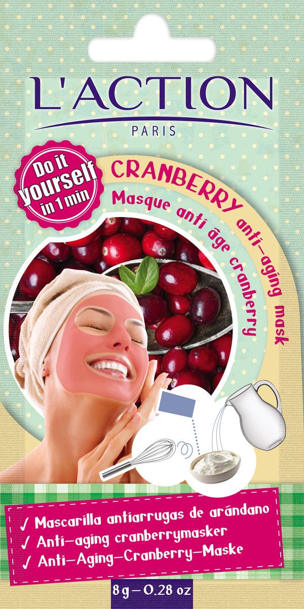 Laction Маска для лица антивозрастная на основе клюквы Cranberry anti-aging mask, 8 г817291Маска с экстрактом клюквы с восхитительным ягодным ароматом. Содержащиеся в маске антиоксиданты – полифенолы и токотриенолы питают и увлажняют кожу, предохраняют ее от клеточного старения. Способ применения: содержимое пакета развести в 1 столовой ложке воды до получения однородной массы. Нанести на лицо и шею, оставить на 10 минут и смыть теплой водой. Избегать попадание в глаза.