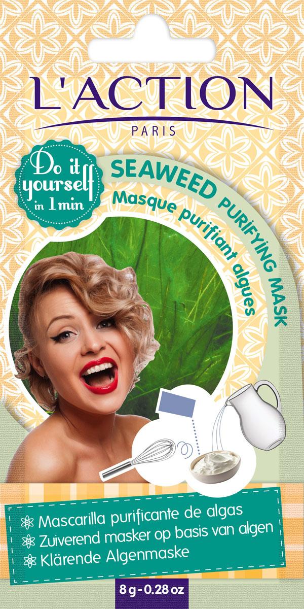 Laction Маска для лица очищающая на основе водорослей Seaweed purifying mask, 8 гFS-00897Комбинация богатой минералами ламинарии, насыщенной витаминами А и С и аминокислотами спирулины и тонизирующего экстракта хвоща, очистит кожу от любых загрязнений и придаст ей свежесть.