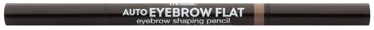 Eva Mosaic Карандаш для бровей Auto Eyebrow Flat, 0,25 г, 03818431Карандаш от бренда Eva Mosaic поможет любой женщине создать идеальную форму бровей. Он обладает удобной треугольной формой грифеля. С помощью острого кончика вы создадите четкими графичные линии, а плоский - сделает более мягкие и плавные штрихи. Благодаря щеточке на другом конце карандаша, вы сможете уложить брови или растушевать цвет. Грифель очень прочный, но при этом мягкий, не ломается и не крошится. Карандаш содержит витамины С и Е, сок листьев алоэ, масло жожоба и семян подсолнечника.