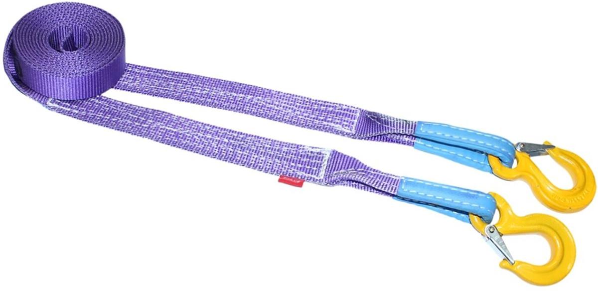Строп динамический Tplus PRO Secura, рывковый, крюк/крюк, 6 т, 5 мT001033Минимальная разрывная нагрузка (MBS): 6 т; Безопасная рабочая нагрузка (SWL): 2 т; Длина: 5 м; Ширина ленты: 40 мм; Материал: 100% нейлон; Защита петель: экокожа; Эластичность (удлинение при нагрузке): 25%; Исполнение: крюк/крюк; Крюк с усиленной защелкой (SF8): 2/16 т (безопасная рабочая нагрузка SWL/минимальная разрывная нагрузка MBS); Для а/м с максимальной массой до 2 т; Гарантия: 2 года.