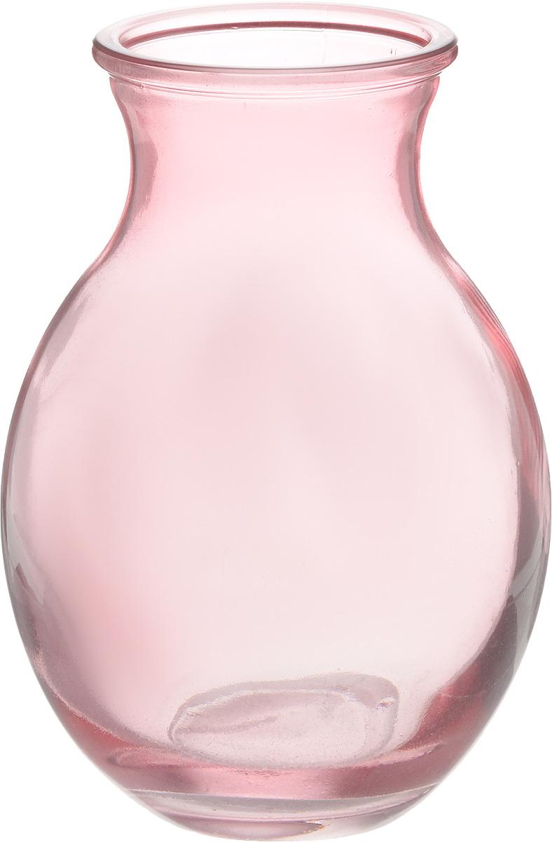 Ваза NiNaGlass Доника, цвет: розовый, высота 19,5 см92-003-1 РОЗВаза NiNaGlass Доника выполнена из высококачественного стекла с розоватым оттенком и имеет изысканный внешний вид. Такая ваза станет ярким украшением интерьера и прекрасным подарком к любому случаю. Высота вазы: 19,5 см. Диаметр вазы (по верхнему краю): 9 см.