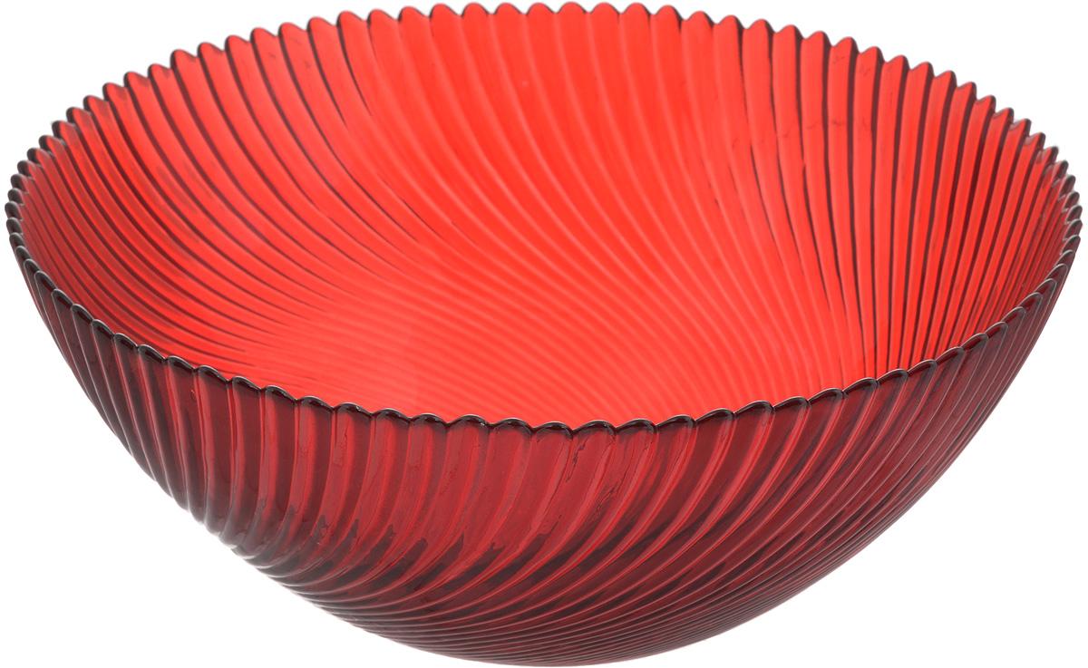 Салатник NiNaGlass Альтера, цвет: рубиновый, диаметр 25 см83-039-ф250 РУБСалатник NiNaGlass Альтера выполнен из высококачественного стекла и декорирован рельефным узором. Он подойдет для сервировки стола как для повседневных, так и для торжественных случаев. Такой салатник прекрасно впишется в интерьер вашей кухни и станет достойным дополнением к кухонному инвентарю. Подчеркнет прекрасный вкус хозяйки и станет отличным подарком. Не рекомендуется использовать в микроволновой печи и мыть в посудомоечной машине. Диаметр салатника (по верхнему краю): 25 см. Высота стенки: 10,5 см.