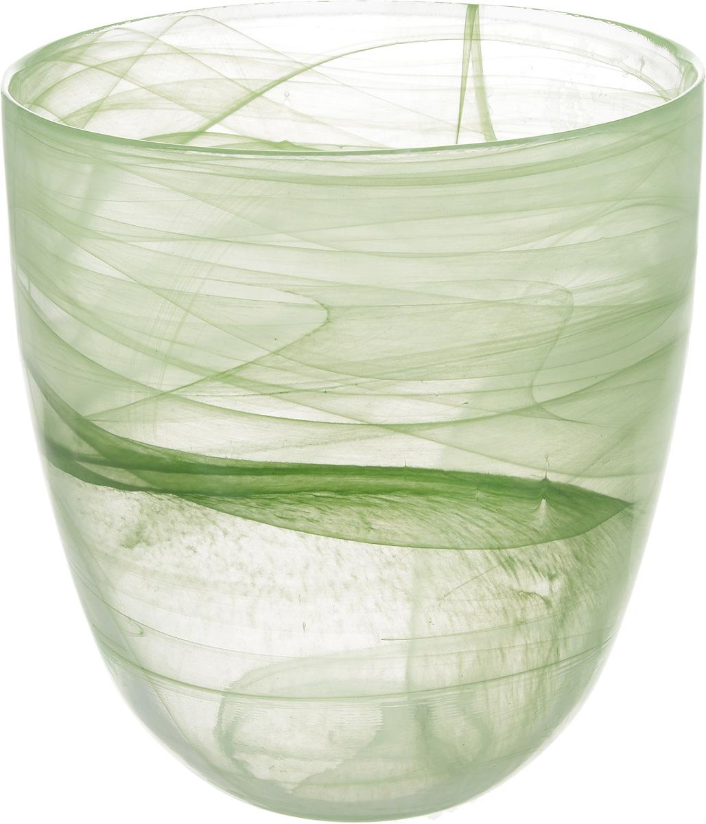 Кашпо NiNaGlass, цвет: прозрачный, зеленый, высота 18 см93-027 ЗЕЛКашпо NiNaGlass имеет уникальную форму, сочетающуюся как с классическим, так и с современным дизайном интерьера. Оно изготовлено из высококачественного стекла и предназначено для выращивания растений, цветов и трав в домашних условиях. Кашпо NiNaGlass порадует вас функциональностью, а благодаря лаконичному дизайну впишется в любой интерьер помещения. Диаметр кашпо (по верхнему краю): 16 см. Высота кашпо: 18 см.