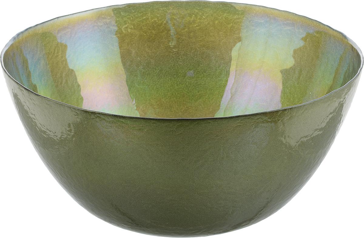 Салатник NiNaGlass Богемия, цвет: оливковый, диаметр 28,5 см115510Салатник NiNaGlass Богемия выполнен из высококачественного стекла. Он прекрасно подойдет для подачи различных блюд: закусок, салатов или фруктов. Изделие отлично впишется в интерьер вашей кухни и станет достойным дополнением к кухонному инвентарю. Не рекомендуется использовать в микроволновой печи и мыть в посудомоечной машине.Диаметр салатника: 28,5 см.Высота стенки: 13,4 см.