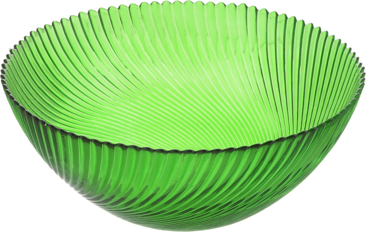 Салатник NiNaGlass Альтера, цвет: зеленый, диаметр 25 см83-039-ф250 ЗЕЛСалатник NiNaGlass Альтера выполнен из высококачественного стекла и декорирован рельефным узором. Он подойдет для сервировки стола как для повседневных, так и для торжественных случаев. Такой салатник прекрасно впишется в интерьер вашей кухни и станет достойным дополнением к кухонному инвентарю. Подчеркнет прекрасный вкус хозяйки и станет отличным подарком. Не рекомендуется использовать в микроволновой печи и мыть в посудомоечной машине. Диаметр салатника (по верхнему краю): 25 см. Высота стенки: 10,5 см.