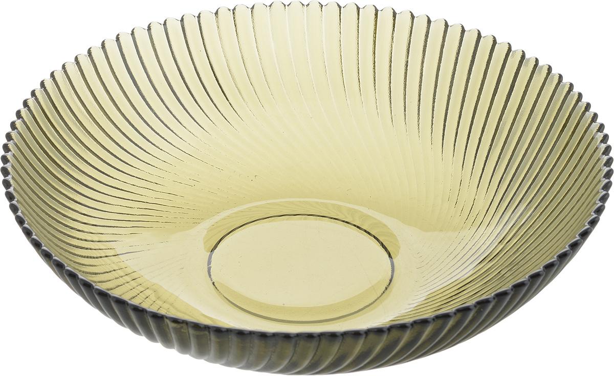 Тарелка NiNaGlass Альтера, цвет: дымчатый, 20 х 20 х 5 см83-068-ф200/h50 ДЫМТарелка NiNaGlass Альтера выполнена из высококачественного стекла и имеет рельефную поверхность. Она прекрасно впишется в интерьер вашей кухни и станет достойным дополнением к кухонному инвентарю. Не рекомендуется использовать в микроволновой печи и мыть в посудомоечной машине.
