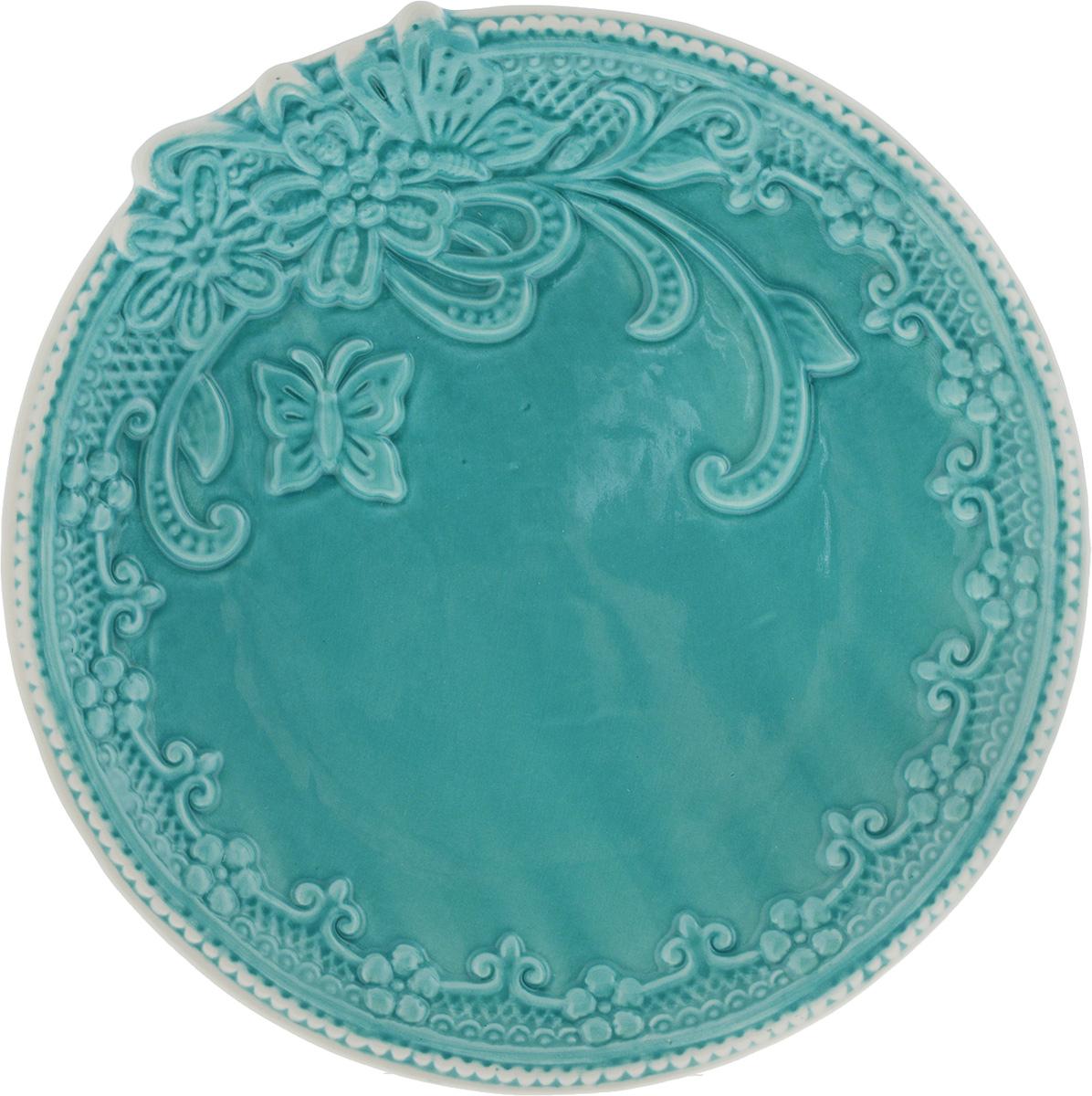 Тарелка Azur, диаметр 21 см216674Тарелка Azur выполнена из высококачественной керамика и имеет рельефную поверхность. Она прекрасно впишется в интерьер вашей кухни и станет достойным дополнением к кухонному инвентарю. Можно мыть в посудомоечной машине и использовать в микроволновой печи. Диаметр тарелки (по верхнему краю): 21 см. Высота: 2,5 см.