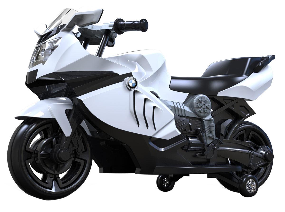 1TOY Мотоцикл аккумуляторный TopGear цвет белый черный Т59746