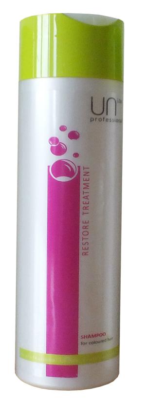 Uni.tec Шампунь для окрашенных волос Restore Treatment, 250 млU0007Шампунь для окрашенных волос продлевает интенсивность цвета, восстанавливает поврежденную структуру волос, защищает от воздействия UV лучей. Применение: нанесите на влажные волосы от корней до кончиков легкими массирующими движениями, оставьте действовать на несколько минут, тщательно смойте теплой водой.
