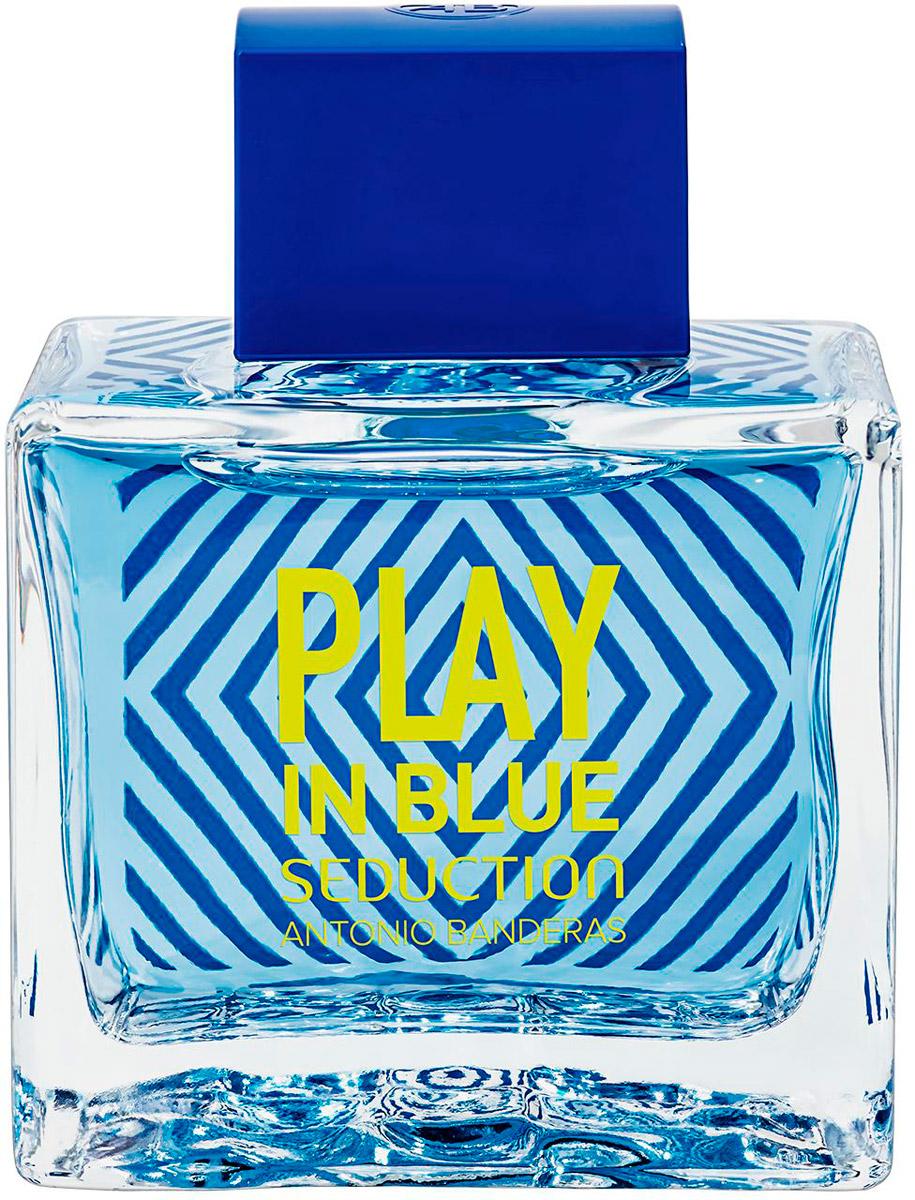 Antonio Banderas Play Blue Seduction Мужская Туалетная вода 100мл65114886Яркие и легкие ароматы с традиционным сочетанием амбры и мускуса в шлейфе