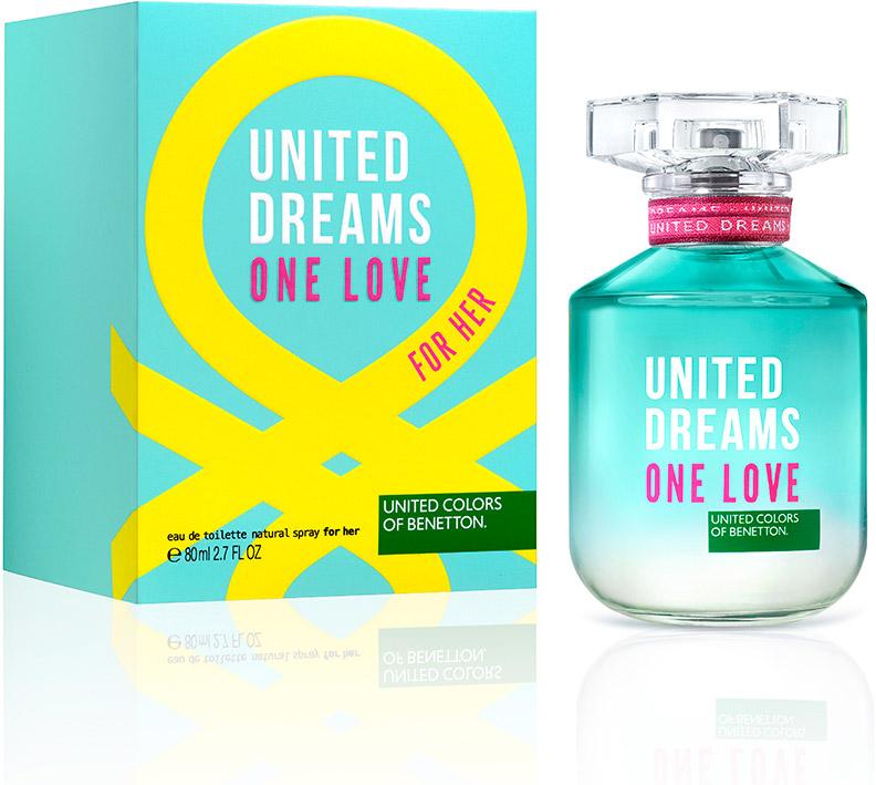 Benetton UD ONE LOVE женская Туалетная вода 50мл65114900Ароматы One Summer, One Love - призыв присоедениться к революции United Dream. Парные ароматы, которые напоминают нам о том, что происхождение не имеет значение - мы разделяем общие мечты.