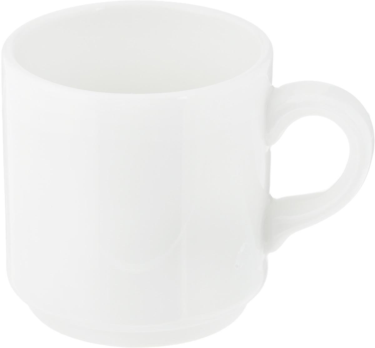 Чашка кофейная Ariane Прайм, 90 мл115610Чашка кофейная Ariane Прайм выполнена из высококачественного фарфора. Посуда из такого материала позволяет сохранить истинный вкус напитка, а также помогает ему дольше оставаться теплым. Белоснежность изделия дарит ощущение легкости и безмятежности.Диаметр чашки (по верхнему краю): 5,5 см. Высота чашки: 6 см.Объем чашки: 90 мл.