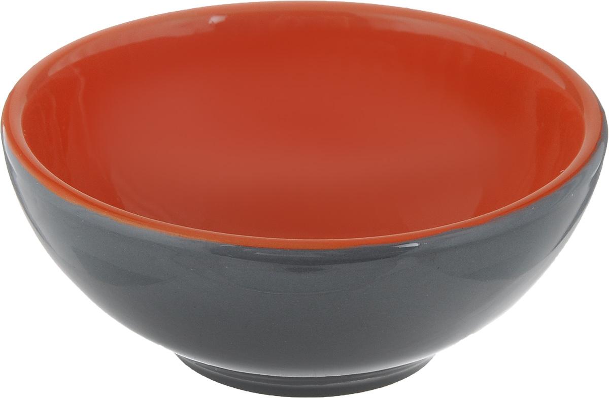 Розетка для варенья Борисовская керамика Радуга, цвет: темно-серый, оранжевый, 200 млРАД00000513_темно-серый, оранжевыйРозетка для варенья Борисовская керамика Радуга изготовлена из высококачественной керамики. Изделие отлично подойдет для подачи на стол меда, варенья, соуса, сметаны и многого другого. Такая розетка украсит ваш праздничный или обеденный стол, а яркое оформление понравится любой хозяйке. Можно использовать в духовке и микроволновой печи. Диаметр (по верхнему краю): 10 см. Высота: 4,5 см. Объем: 200 мл.