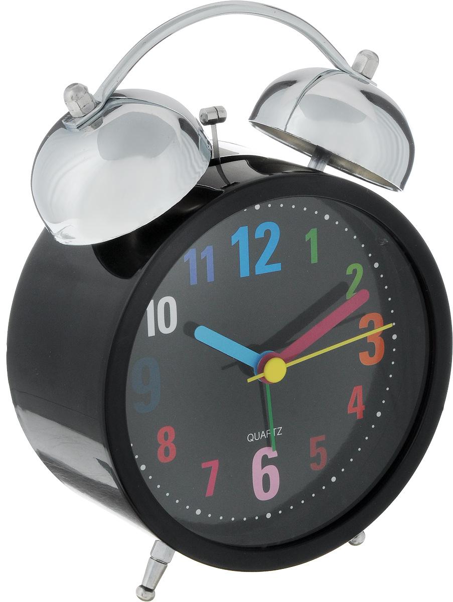 Часы-будильник Sima-land Цифры, цвет: черный4630011250826Оригинальные часы-будильник Sima-land Цифры органично впишутся в интерьер комнаты. Корпус часов выполнен из пластика, а циферблат из стекла. Часы-будильник на двух устойчивых ножках. На задней панели имеется поворотный рычажок для выставления времени и поворотный рычажок для того, чтобы завести будильник на нужное время. Часы-будильник оснащены 4 стрелками: часовой, минутной, секундной и стрелкой будильника. Циферблат имеет подсветку. Будьте абсолютно уверены в том, что с таким будильником вам точно не удастся снова уснуть! Теперь вы сможете просыпаться утром под звуки стильного классического будильника Sima-land Цифры.Будильник работает от двух батареек типа АА (не входят в комплект).Диаметр циферблата 10 см.