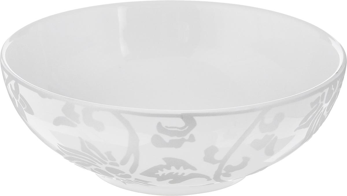 Салатник Sango Ceramics Джапан Деним Сильвер, диаметр 16,5 смUTJDS17640Салатник Sango Ceramics Джапан Деним Сильвер выполнен из высококачественной керамики и декорирован оригинальным рисунком. Изделие отлично подходит для сервировки салатов, закусок, овощей и фруктов. Такой салатник отлично подойдет для повседневного использования. Он прекрасно впишется в интерьер вашей кухни. Можно использовать в микроволновой печи и мыть в посудомоечной машине. Диаметр (по верхнему краю): 16,5 см. Высота стенки: 5,5 см.