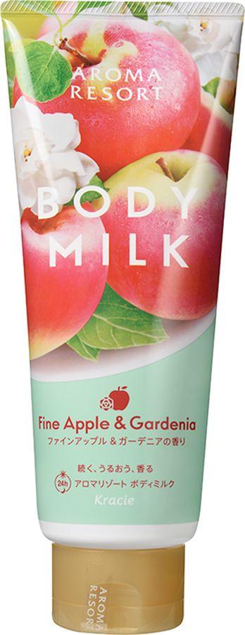 Kracie 64302kr Aroma Resort Молочко для тела Aroma Resort - аромат яблока и гардении 220 гFS-00897Молочко с нежным ароматом яблока и гардении увлажняет кожу и защищает ее от сухости. В состав молочка входит комплекс фруктово-овощных экстрактов (экстракт органического огурца, томата, брокколи, спаржи, моркови, соки апельсина, персика, киви, эссенция западной груши и масло авокадо) и увлажняющие компоненты – масло жожоба и масло асаи. Молочко мгновенно впитывается и не оставляет ощущения липкости на коже. Увлажненность сохраняется на 24 часа! Аромат яблока и гардении дарит ощущение нежности и счастья.