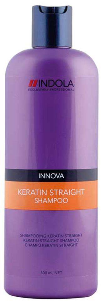 Indola Шампунь Кератиновое выпрямление Keratin Straight Shampoo 300 млFS-00897Indola Шампунь Кератиновое выпрямление. Содержащая кератин-полимер комплекс формула покрывает волосы защитным слоем, который выпрямляет и защищает волосы от завитков на 48 часов. Обеспечивает гладкость, блеск и здоровый вид. Для всех типов волос. Рекомендуется использовать в комплексе с продуктами ухода линии Indola Keratin Straight.