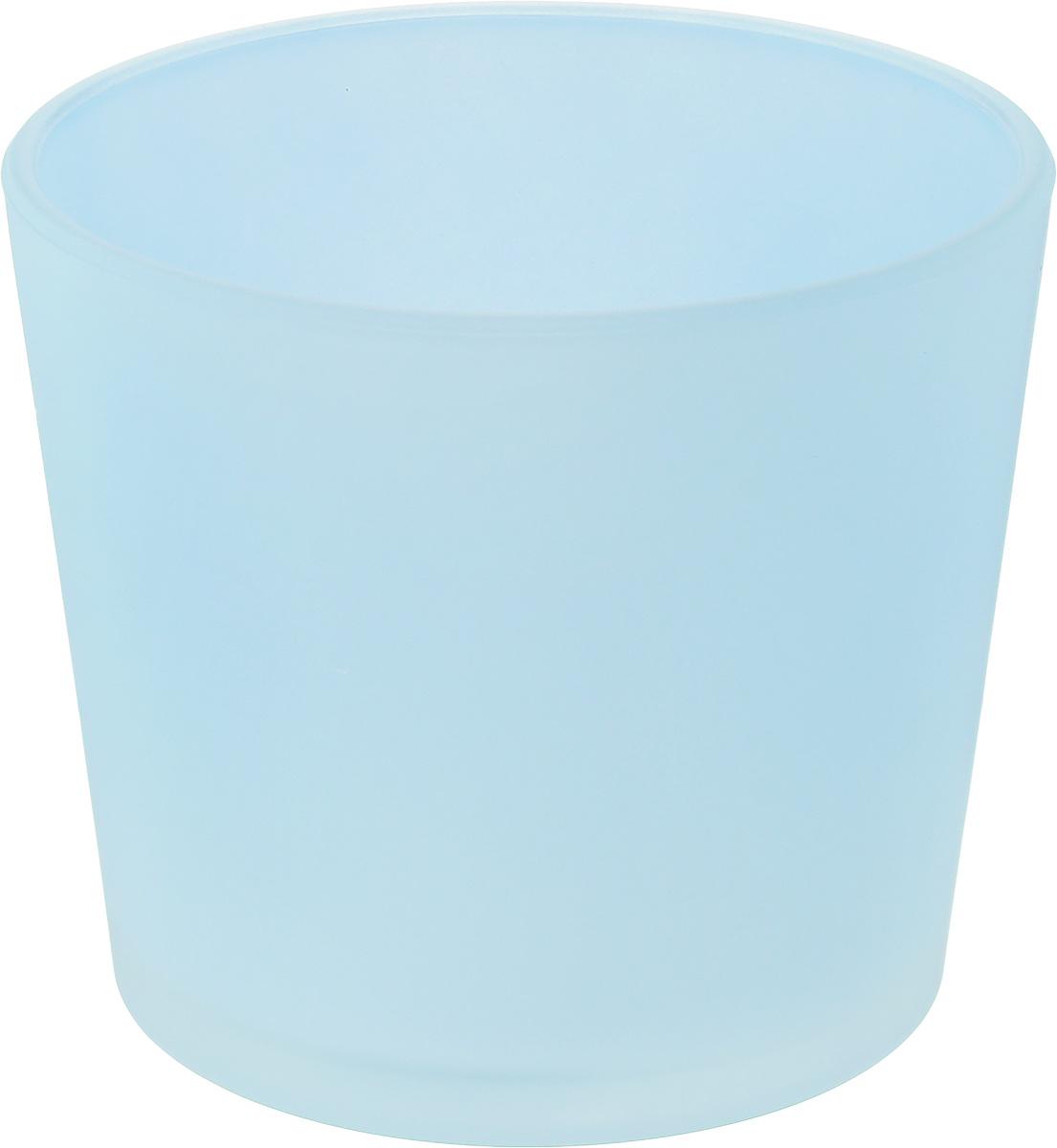Кашпо NiNaGlass, цвет: голубой, высота 12,5 см91-011-Ф145_голубойКашпо NiNaGlass имеет уникальную форму, сочетающуюся как с классическим, так и с современным дизайном интерьера. Оно изготовлено из высококачественного стекла и предназначено для выращивания растений, цветов и трав в домашних условиях. Кашпо NiNaGlass порадует вас функциональностью, а благодаря лаконичному дизайну впишется в любой интерьер помещения. Диаметр кашпо (по верхнему краю): 14,5 см. Высота кашпо: 12,5 см.