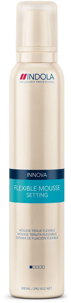 Indola Мусс для волос мягкой фиксации Setting Flexible Mousse 300 мл1939758Indola Мусс для волос мягкой фиксации. Содержит фильмформеры и пантенол, которые скрепляют волосы невидимым покрытием и помогают сохранить форму, не делая волосы жесткими. Обеспечивает эластичную фиксацию и объем не перегружая волосы. Подходит для любых типов волос.