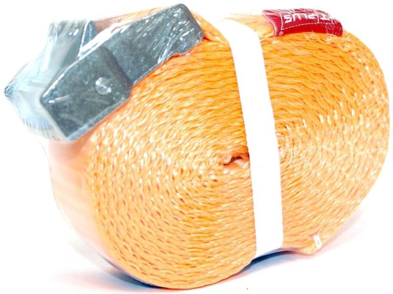 Стяжка для крепления груза Tplus, с фиксатором, 500 кг, 5 мT000837Предельная рабочая нагрузка (WLL): 500 кг; Длина: 5 м; Ширина ленты: 35 мм; Материал ленты: полиэстер; Замок: сплав цинка; Гарантия: 1 год.