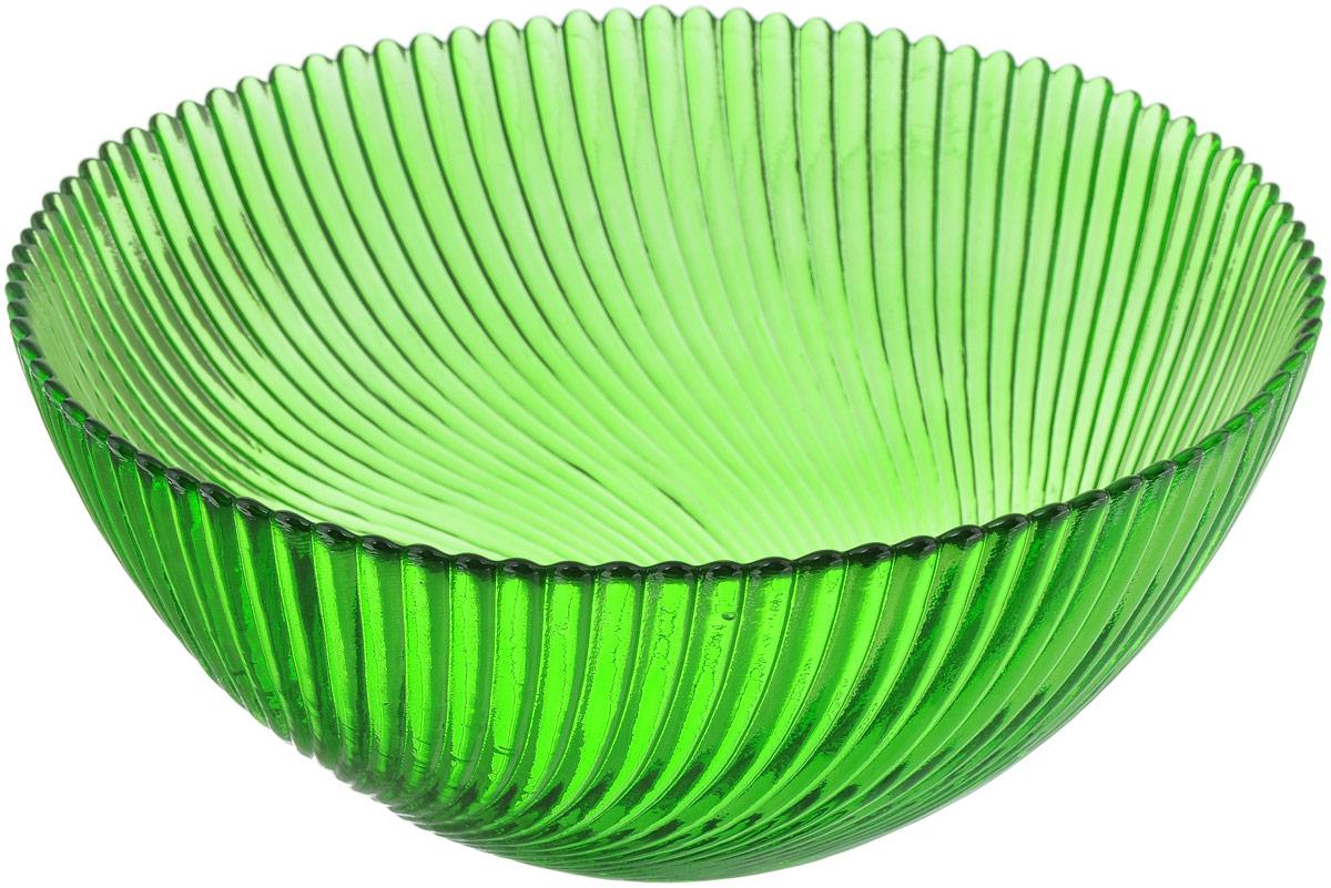 Салатник NiNaGlass Альтера, цвет: зеленый, диаметр 20 см83-038-ф200 ЗЕЛСалатник NiNaGlass Альтера выполнен из высококачественного стекла. Внешние стенки декорированы красивым рельефным узором. Салатник идеален для сервировки салатов, овощей, ягод, сухофруктов, гарниров и многого другого. Он отлично подойдет как для повседневных, так и для торжественных случаев. Такой салатник прекрасно впишется в интерьер вашей кухни и станет достойным дополнением к кухонному инвентарю. Диаметр салатника (по верхнему краю): 20 см. Высота стенки: 9 см.