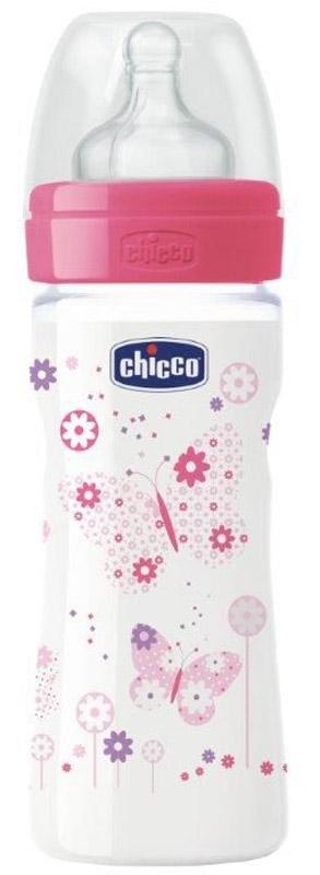 Chicco Бутылочка для кормления Well-Being Boy от 2 месяцев 250 мл цвет розовый