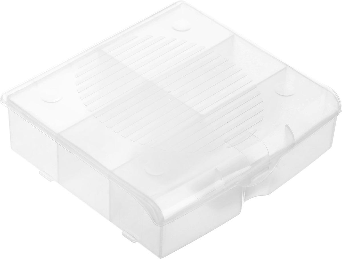 Органайзер для мелочей Blocker, цвет: прозрачный, 14 х 13 х 4,1 смПЦ3712ПРМТОрганайзер для мелочей Blocker предназначен для оптимальной организации пространства. Внутреннее деление делает удобным размещение внутри блока деталей, которые необходимо отделить друг от друга, а прозрачная крышка позволяет увидеть содержимое, не открывая блок. Подходит для хранения швейных принадлежностей, мелких деталей и рыболовных снастей. Крышка плотно закрывается и предотвращает потерю содержимого. Органайзер содержит 5 отделений: одно большего размера и 4 одинаковых отсека. Размер большего отделения: 13,2 х 3,2 см. Размер одного небольшого отделения: 6,5 х 3,8 см.