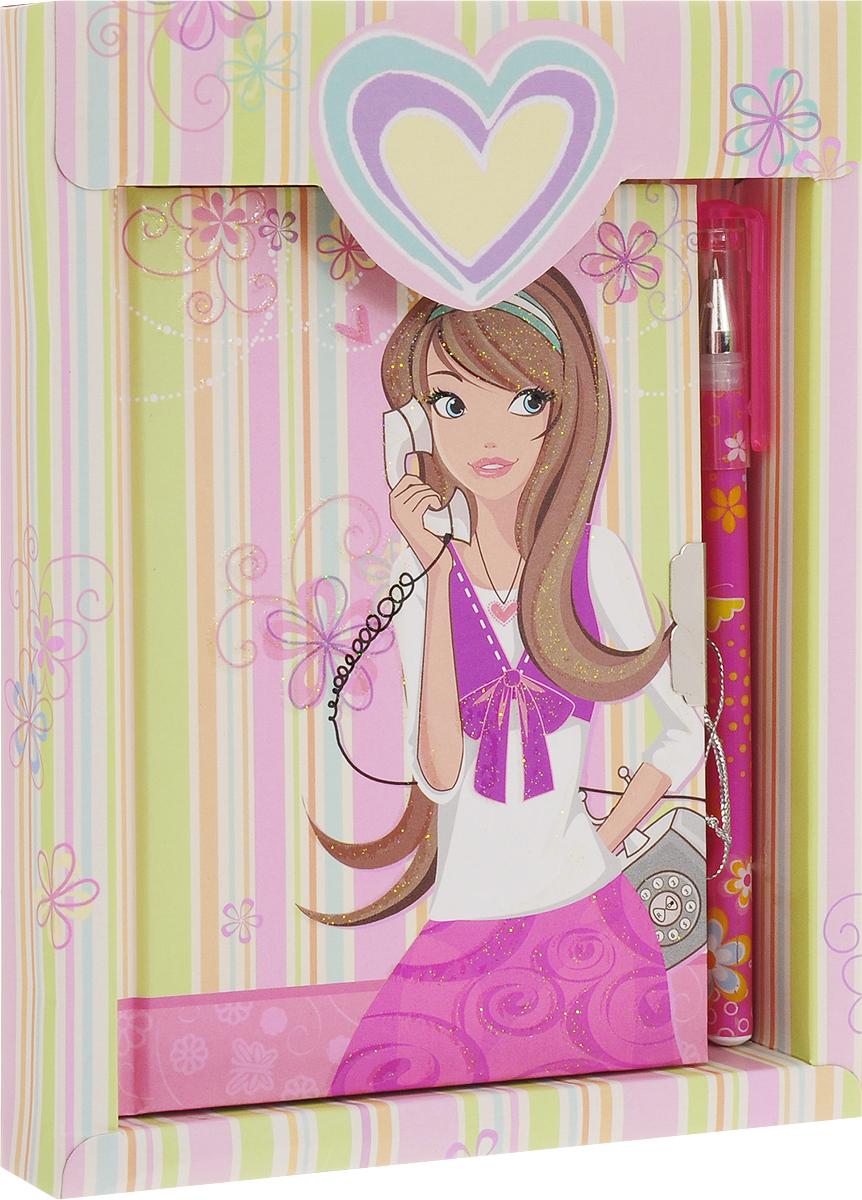 Brauberg Блокнот 60 листов в линейку цвет розовый салатовый 123563_розовый, салатовый