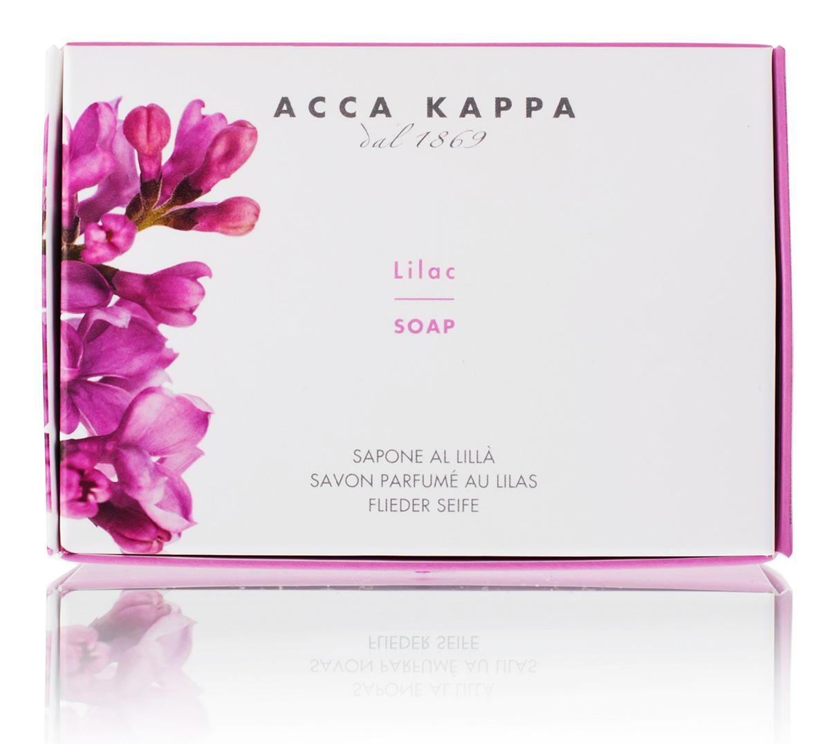 Acca Kappa Мыло туалетное Сирень 150 грFA-8116-1 White/pinkМыло создано с использованием традиционных методов из сырья исключительно растительного происхождения.