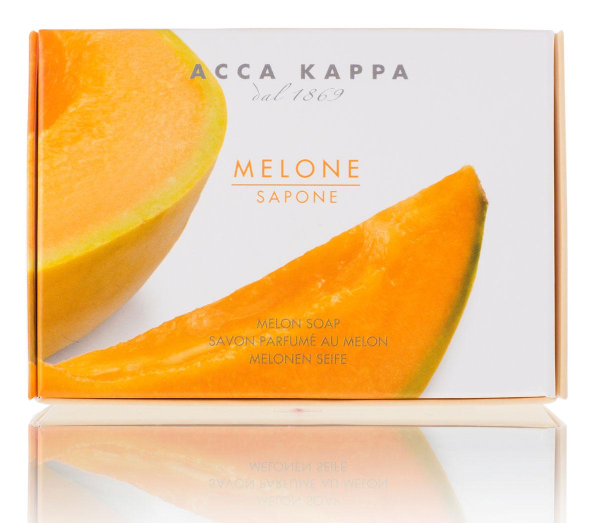 Acca Kappa Мыло туалетное Дыня 150 гр853374Мыло создано с использованием традиционных методов из сырья исключительно растительного происхождения.