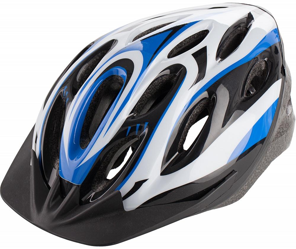Шлем велосипедный Cyclotech, цвет: черный, синий. Размер MCHLO-14MМужской велосипедный шлем. Изготовлен по технологии OutMold, которая обеспечивает хорошее сочетание цены и качества. Увеличенное количество вентиляционных отверстий гарантирует отличную циркуляцию воздуха на разных скоростях движения при сохранении жесткости. Шлем соответствует международным стандартам безопасности и надежности.