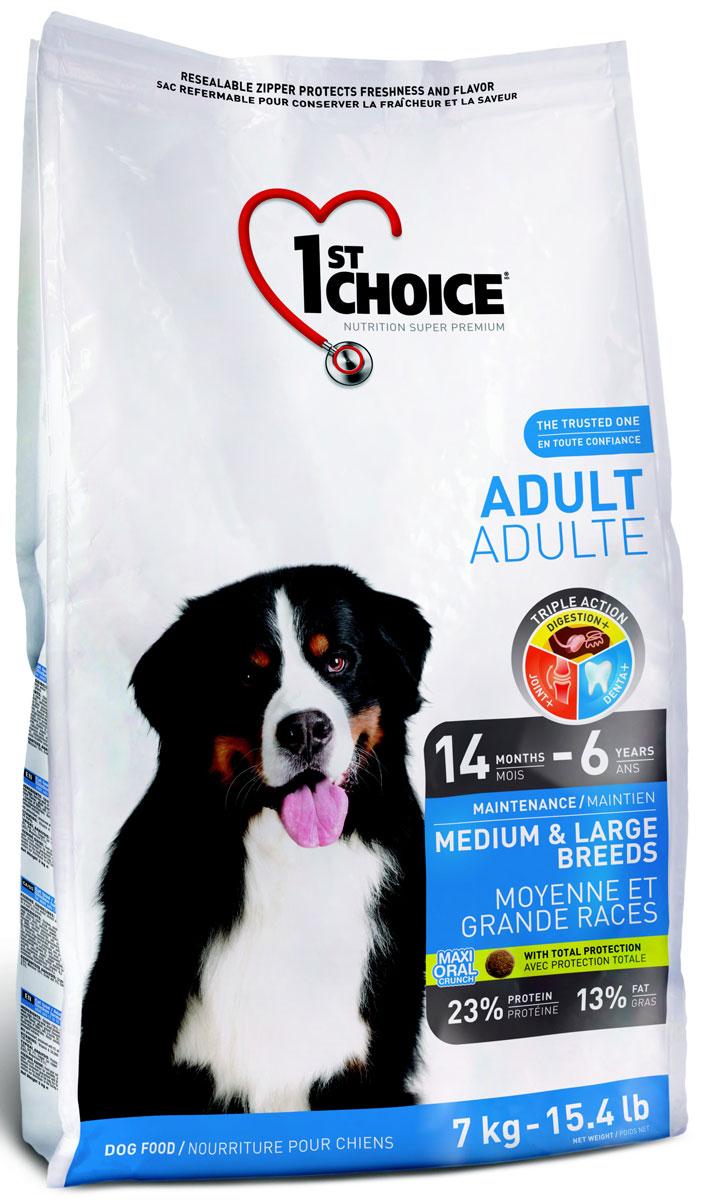 Корм сухой 1st Choice, для собак средних и крупных пород, курица, 7 кг102.316