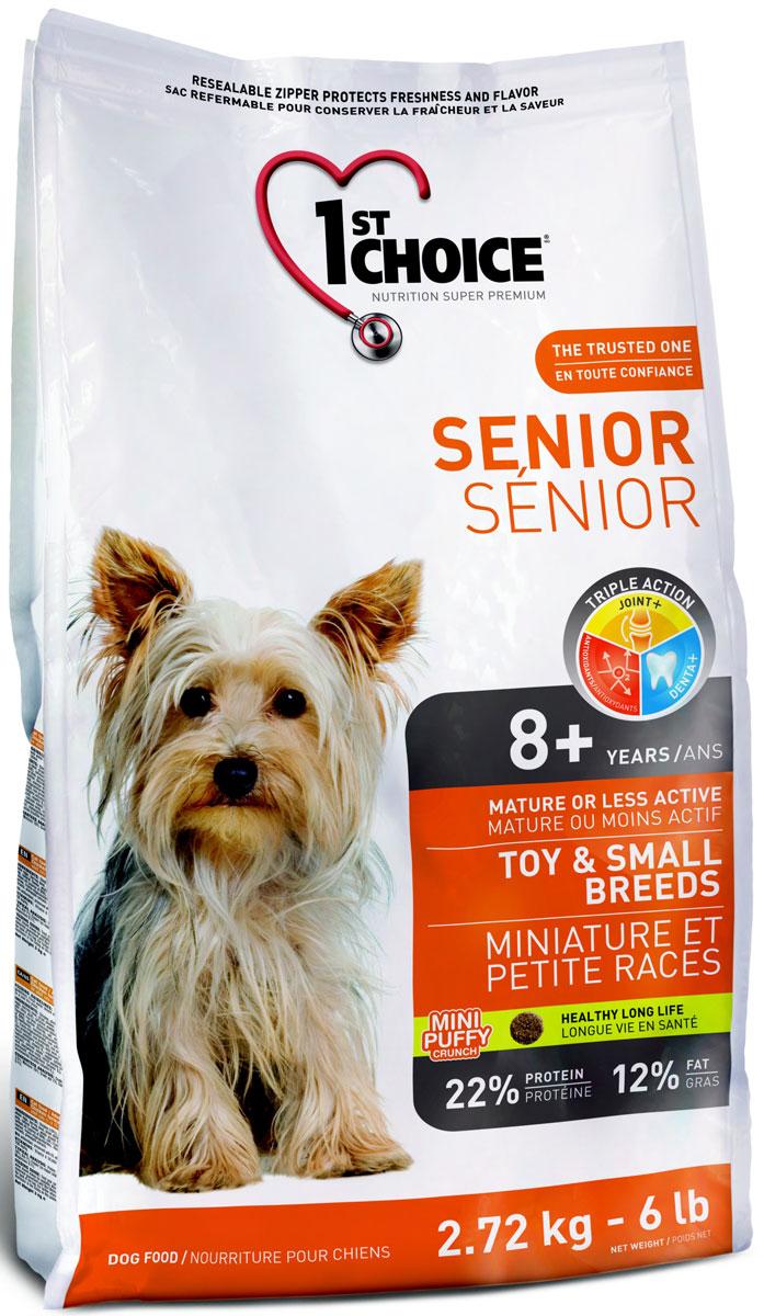 Корм сухой 1st Choice, для пожилых собак миниатюрных и мелких пород, курица, 2,72 кг102.328