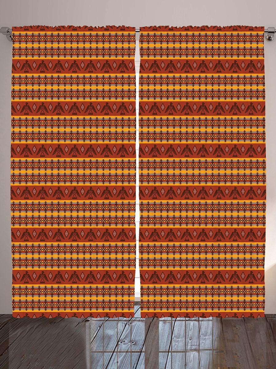 Комплект фотоштор Magic Lady Этнические индейские узоры с орлами, ромбами и полосками, на ленте, высота 265 см. шсг_10196шсг_10196Компания Сэмболь изготавливает шторы из высококачественного сатена (полиэстер 100%). При изготовлении используются специальные гипоаллергенные чернила для прямой печати по ткани, безопасные для человека и животных. Экологичность продукции Magic lady и безопасность для окружающей среды подтверждены сертификатом Oeko-Tex Standard 100. Крепление: крючки для крепления на шторной ленте (50 шт). Возможно крепление на трубу. Внимание! При нанесении сублимационной печати на ткань технологическим методом при температуре 240°С, возможно отклонение полученных размеров (указанных на этикетке и сайте) от стандартных на + - 3-5 см. Производитель старается максимально точно передать цвета изделия на фотографиях, однако искажения неизбежны и фактический цвет изделия может отличаться от воспринимаемого по фото. Обратите внимание! Шторы изготовлены из полиэстра сатенового переплетения, а не из сатина (хлопок). Размер одного полотна шторы: 145х265 см. В комплекте 2...