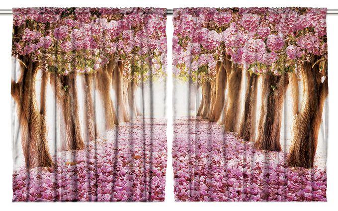 Комплект фотоштор Magic Lady Аллея в розовых цветах, на ленте, высота 265 см. шсг_111210503Компания Сэмболь изготавливает шторы из высококачественного сатена (полиэстер 100%). При изготовлении используются специальные гипоаллергенные чернила для прямой печати по ткани, безопасные для человека и животных. Экологичность продукции Magic lady и безопасность для окружающей среды подтверждены сертификатом Oeko-Tex Standard 100. Крепление: крючки для крепления на шторной ленте (50 шт). Возможно крепление на трубу. Внимание! При нанесении сублимационной печати на ткань технологическим методом при температуре 240°С, возможно отклонение полученных размеров (указанных на этикетке и сайте) от стандартных на + - 3-5 см. Производитель старается максимально точно передать цвета изделия на фотографиях, однако искажения неизбежны и фактический цвет изделия может отличаться от воспринимаемого по фото. Обратите внимание! Шторы изготовлены из полиэстра сатенового переплетения, а не из сатина (хлопок). Размер одного полотна шторы: 145х265 см. В комплекте 2 полотна шторы и 50 крючков.