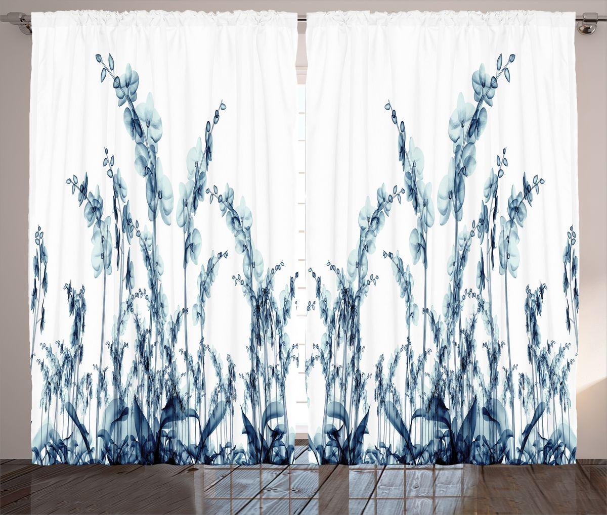 Комплект фотоштор Magic Lady Орхидеи из синего стекла, на ленте, высота 265 см. шсг_14471шсг_14471Компания Сэмболь изготавливает шторы из высококачественного сатена (полиэстер 100%). При изготовлении используются специальные гипоаллергенные чернила для прямой печати по ткани, безопасные для человека и животных. Экологичность продукции Magic lady и безопасность для окружающей среды подтверждены сертификатом Oeko-Tex Standard 100. Крепление: крючки для крепления на шторной ленте (50 шт). Возможно крепление на трубу. Внимание! При нанесении сублимационной печати на ткань технологическим методом при температуре 240°С, возможно отклонение полученных размеров (указанных на этикетке и сайте) от стандартных на + - 3-5 см. Производитель старается максимально точно передать цвета изделия на фотографиях, однако искажения неизбежны и фактический цвет изделия может отличаться от воспринимаемого по фото. Обратите внимание! Шторы изготовлены из полиэстра сатенового переплетения, а не из сатина (хлопок). Размер одного полотна шторы: 145х265 см. В комплекте 2...