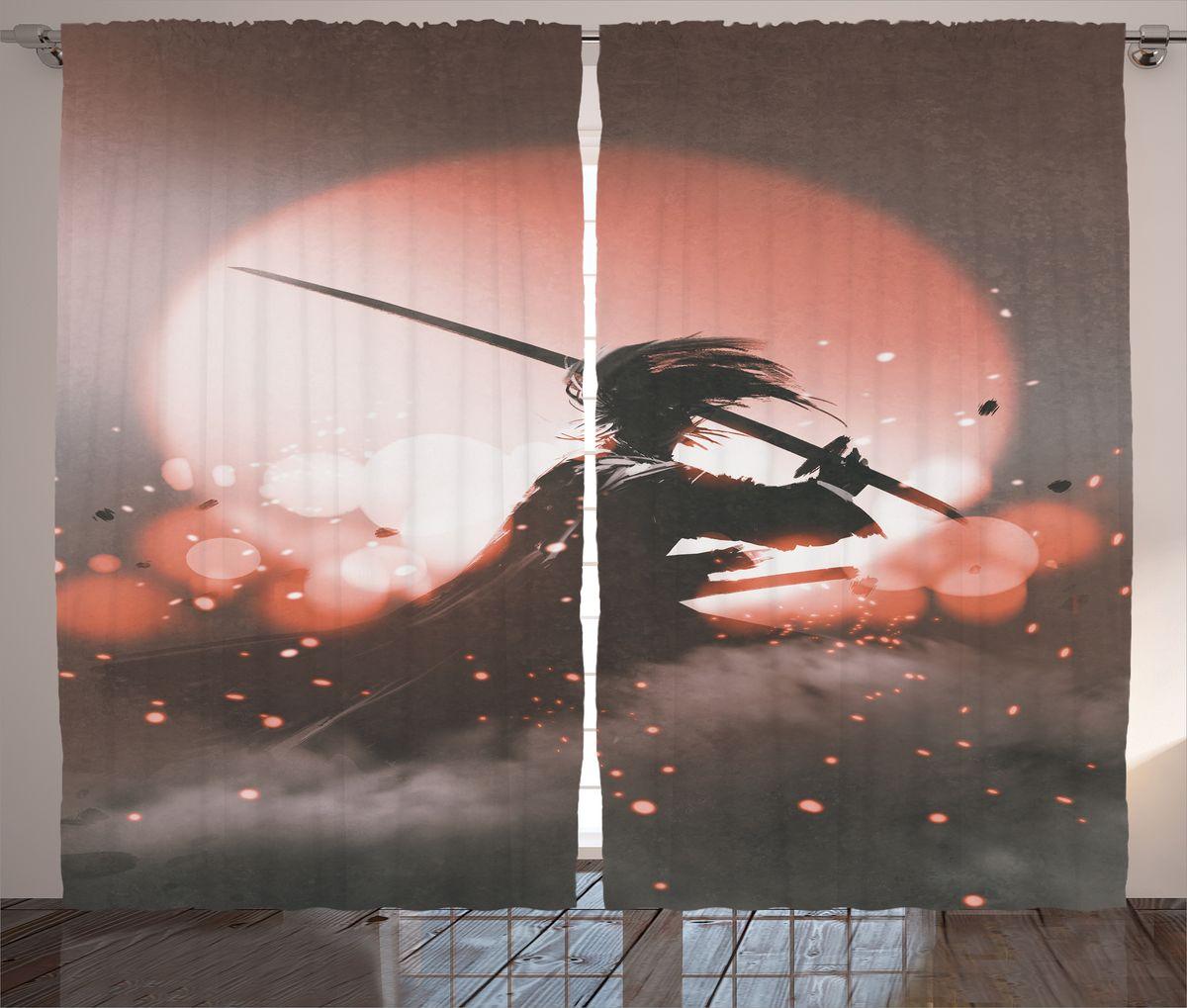 Комплект фотоштор Magic Lady Самурай на фоне заката, на ленте, высота 265 см. шсг_18287шсг_18287Компания Сэмболь изготавливает шторы из высококачественного сатена (полиэстер 100%). При изготовлении используются специальные гипоаллергенные чернила для прямой печати по ткани, безопасные для человека и животных. Экологичность продукции Magic lady и безопасность для окружающей среды подтверждены сертификатом Oeko-Tex Standard 100. Крепление: крючки для крепления на шторной ленте (50 шт). Возможно крепление на трубу. Внимание! При нанесении сублимационной печати на ткань технологическим методом при температуре 240°С, возможно отклонение полученных размеров (указанных на этикетке и сайте) от стандартных на + - 3-5 см. Производитель старается максимально точно передать цвета изделия на фотографиях, однако искажения неизбежны и фактический цвет изделия может отличаться от воспринимаемого по фото. Обратите внимание! Шторы изготовлены из полиэстра сатенового переплетения, а не из сатина (хлопок). Размер одного полотна шторы: 145х265 см. В комплекте 2...