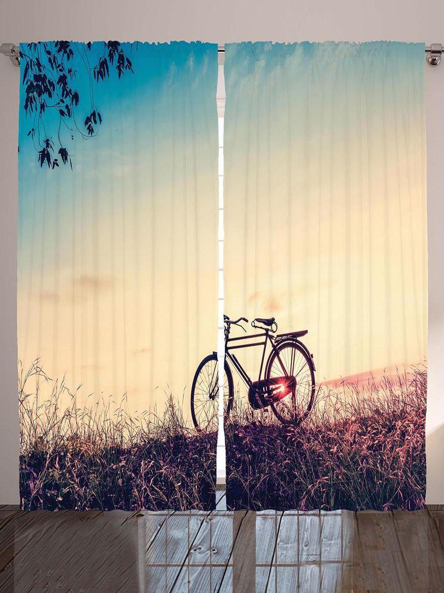 Комплект фотоштор Magic Lady Прогулка на велосипеде по августовскому лугу на закате дня, на ленте, высота 265 см. шсг_8983ES-412Компания Сэмболь изготавливает шторы из высококачественного сатена (полиэстер 100%). При изготовлении используются специальные гипоаллергенные чернила для прямой печати по ткани, безопасные для человека и животных. Экологичность продукции Magic lady и безопасность для окружающей среды подтверждены сертификатом Oeko-Tex Standard 100. Крепление: крючки для крепления на шторной ленте (50 шт). Возможно крепление на трубу. Внимание! При нанесении сублимационной печати на ткань технологическим методом при температуре 240°С, возможно отклонение полученных размеров (указанных на этикетке и сайте) от стандартных на + - 3-5 см. Производитель старается максимально точно передать цвета изделия на фотографиях, однако искажения неизбежны и фактический цвет изделия может отличаться от воспринимаемого по фото. Обратите внимание! Шторы изготовлены из полиэстра сатенового переплетения, а не из сатина (хлопок). Размер одного полотна шторы: 145х265 см. В комплекте 2 полотна шторы и 50 крючков.