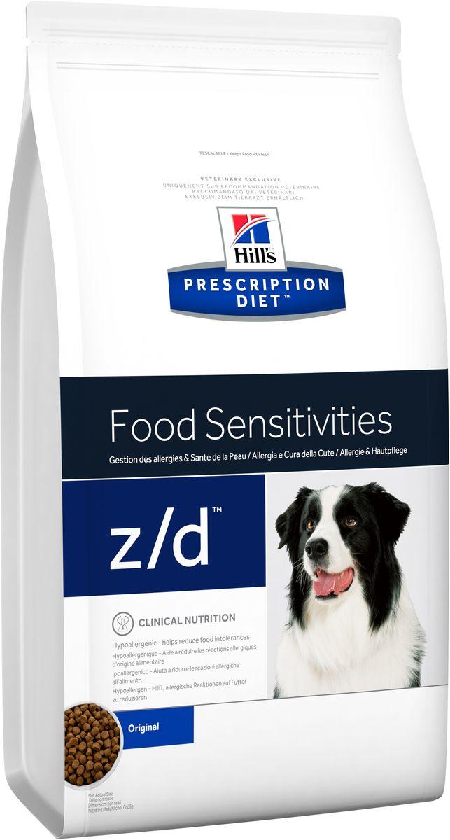 Корм сухой диетический Hills Z/D для собак, для лечения острых пищевых аллергий, 3 кг8887Сбалансированный лечебный корм для собак Hills Z/D содержит особую формулу с пониженным содержанием аллергенов, благодаря чему является щадящей диетой для собак с чувствительным пищеварением. Пищевая аллергия и непереносимость могут стать причиной таких серьезных проблем, как чувствительная или раздраженная кожа, проблемы с шерстью и ушами, расстройство пищеварения. Собаки с пищевой аллергией или непереносимостью, как правило, показывают негативную реакцию на протеины, содержащиеся в пище. Ключевые преимущества корма: - содержит легкоусвояемые протеины, снижающие риск аллергических реакций, - содержит один источник углеводов, благодаря чему обладает меньшим количеством аллергенов в своем составе. - легкоусвояемые углеводы и жиры снижают нагрузку на желудочно-кишечный тракт, - обогащен Омега-3 и Омега-6 жирными кислотами для здоровой кожи и блестящей шерсти. Рекомендации по кормлению: Монодиета не требует...