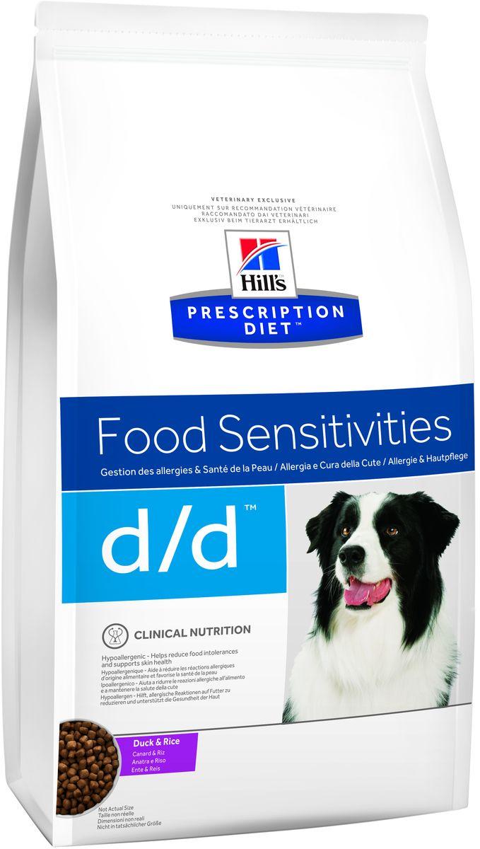 Корм сухой для собак Hills D/D Allergy & Skin Care, диетический, для лечения пищевых аллергий, с уткой и рисом, 12 кг9179Сухой корм для собак Hills D/D - полноценный диетический рацион для собак, склонных к пищевым реакциям, или с непереносимостью компонентов пищи. Поддерживает здоровье кожи при дерматитах и чрезмерной потере шерсти. Содержит специально подобранные источники протеинов, углеводов и высокий уровень полиненасыщенных жирных кислот. Не содержит распространенных пищевых аллергенов, содержит высокий уровень незаменимых жирных кислот для улучшения состояния кожи вашей собаки. - Превосходный вкус понравится вашей собаке. - Супер антиоксидантная формула повышает устойчивость клеток организма к воздействию свободных радикалов. Монодиета. Не требует дополнений. Рекомендации по кормлению: рекомендуемое число кормлений 2 раза в сутки и более. Рекомендуемая продолжительность диетотерапии при пищевой аллергии/непереносимости компонентов пищи - 3-8 недель, при исчезновении клинических симптомов диету можно применять без временных ограничений. Рекомендуемая...