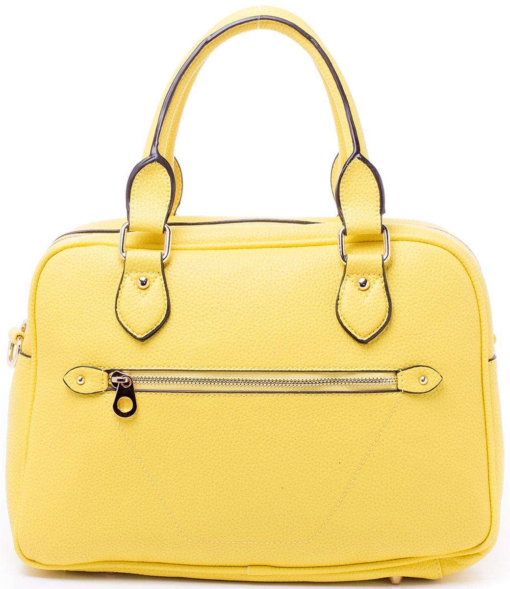 Сумка женская Baggini, цвет: желтый. 29699/8229699/82Сумка женская Baggini исполнена из экокожи. Имеет два наружных кармана - один спереди, другой сзади, оба закрываются на застежку-молнию. Внутри вместительного отделения сумки находятся два накладных кармашка для телефона или мелочей, один прорезной карман на молнии, один карман-разделитель так же на молнии, позади которого находится еще один накладной карман. Изделие имеет две удобные ручки для переноски и к сумке прилагается отстежной регулируемый плечевой ремень. Днище сумки защищено от повреждений и протирания фурнитурными пуклями.